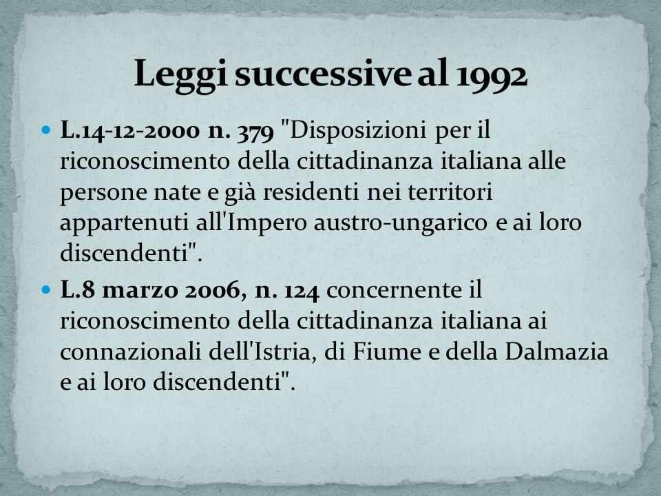 L.14-12-2000 n. 379