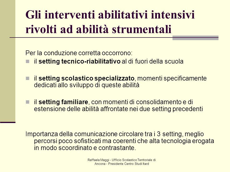 Raffaela Maggi - Ufficio Scolastico Territoriale di Ancona - Presidente Centro Studi Itard Gli interventi abilitativi intensivi rivolti ad abilità str