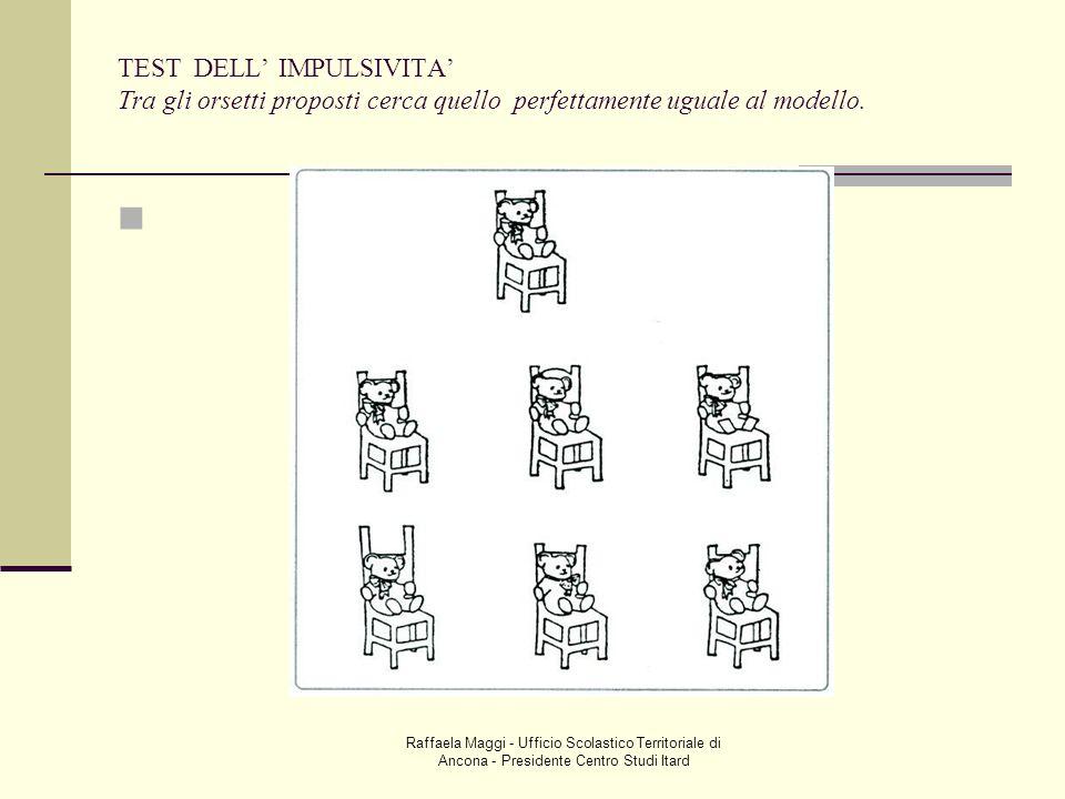 Raffaela Maggi - Ufficio Scolastico Territoriale di Ancona - Presidente Centro Studi Itard TEST DELL IMPULSIVITA Tra gli orsetti proposti cerca quello