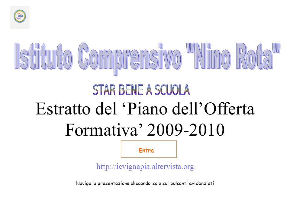 Estratto del Piano dellOfferta Formativa 2009-2010 http://icvignapia.altervista.org Naviga la presentazione cliccando solo sui pulsanti evidenziati Entra