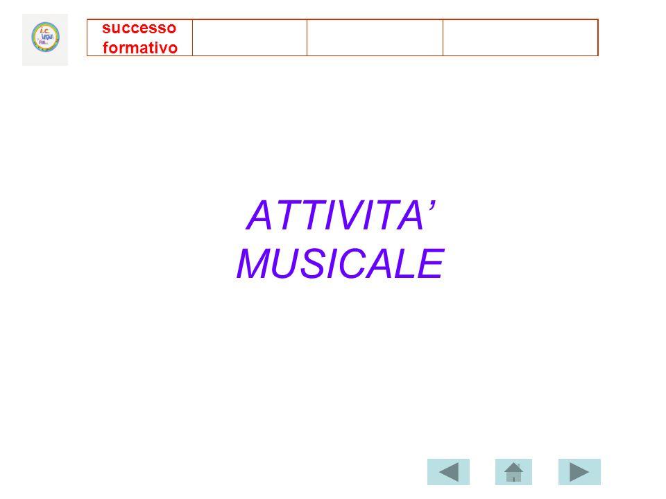 ATTIVITA MUSICALE successo formativo