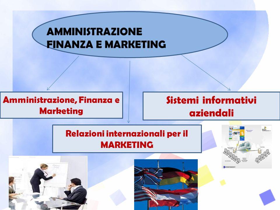 AMMINISTRAZIONE FINANZA E MARKETING Amministrazione, Finanza e Marketing Relazioni internazionali per il MARKETING Sistemi informativi aziendali