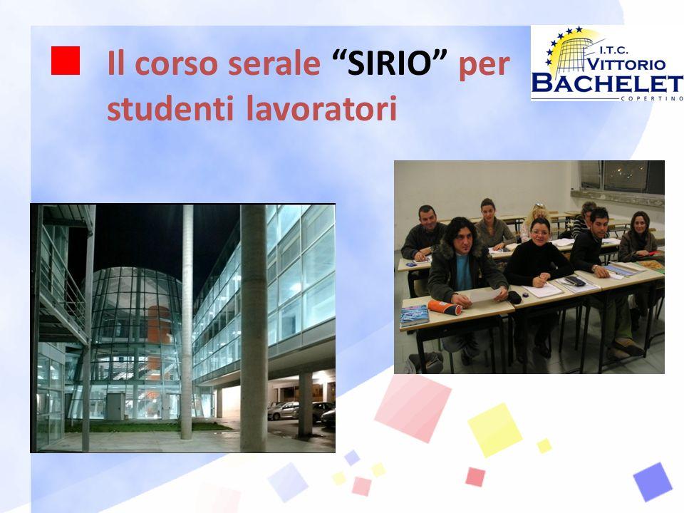 Il corso serale SIRIO per studenti lavoratori
