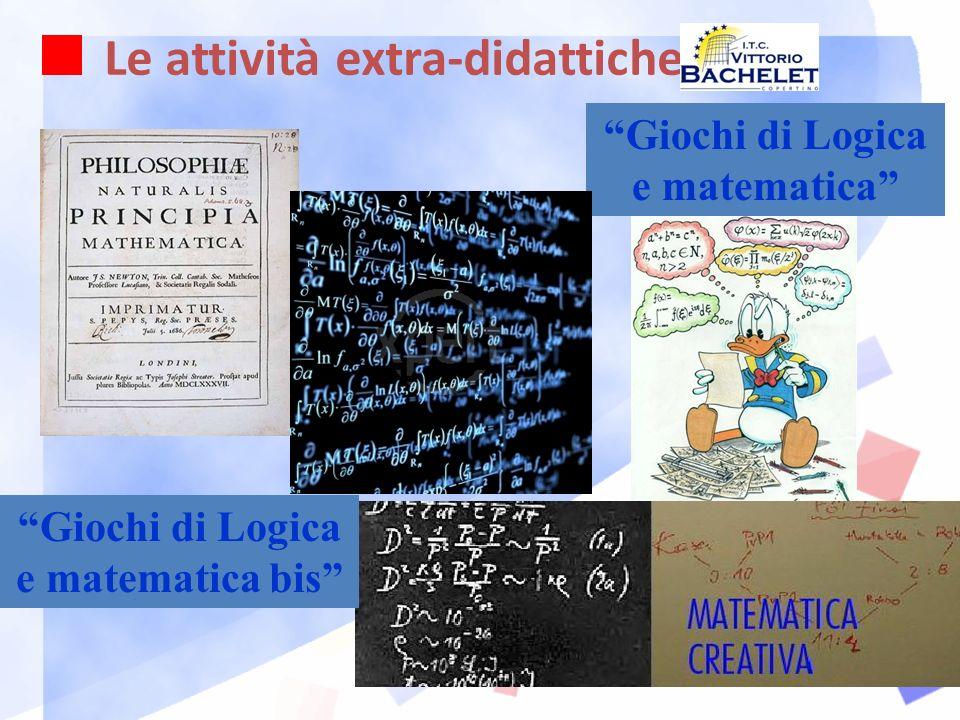 Le attività extra-didattiche Giochi di Logica e matematica Giochi di Logica e matematica bis