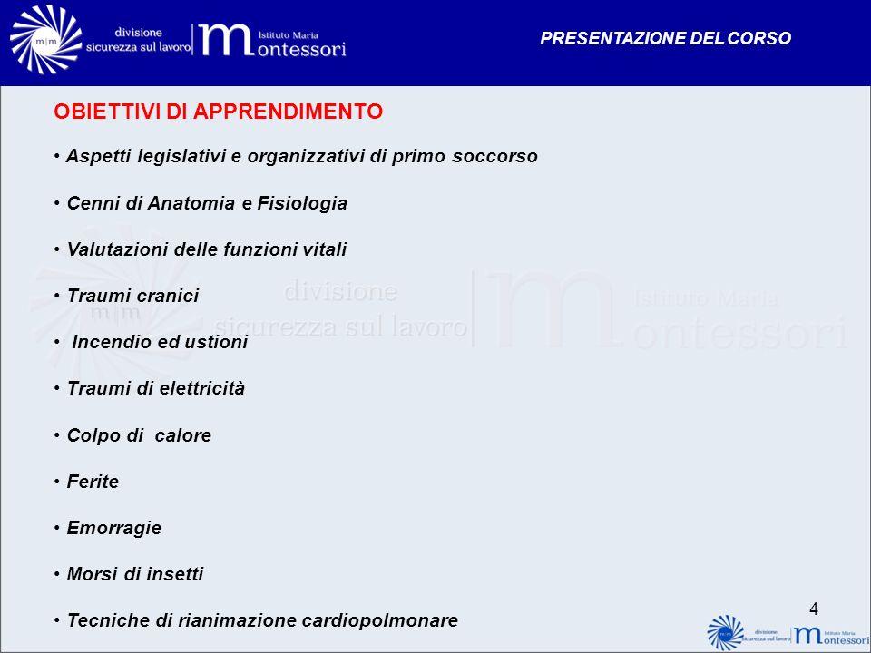 PRESENTAZIONE DEL CORSO 55