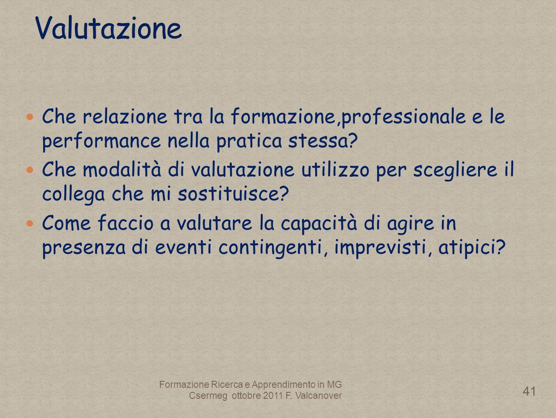 Che relazione tra la formazione,professionale e le performance nella pratica stessa.