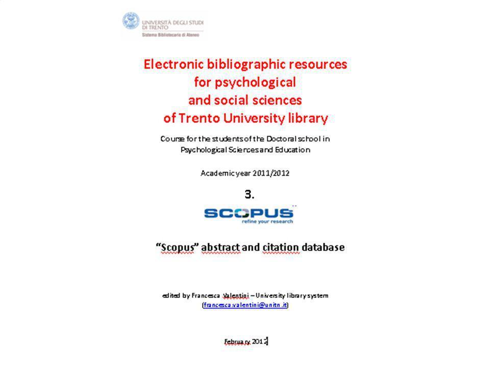 7th February 2011 SBA. Ufficio Anagrafe della ricerca, Archivi istituzionali e supporto editorialeSistema Bibliotecario di Ateneo 1