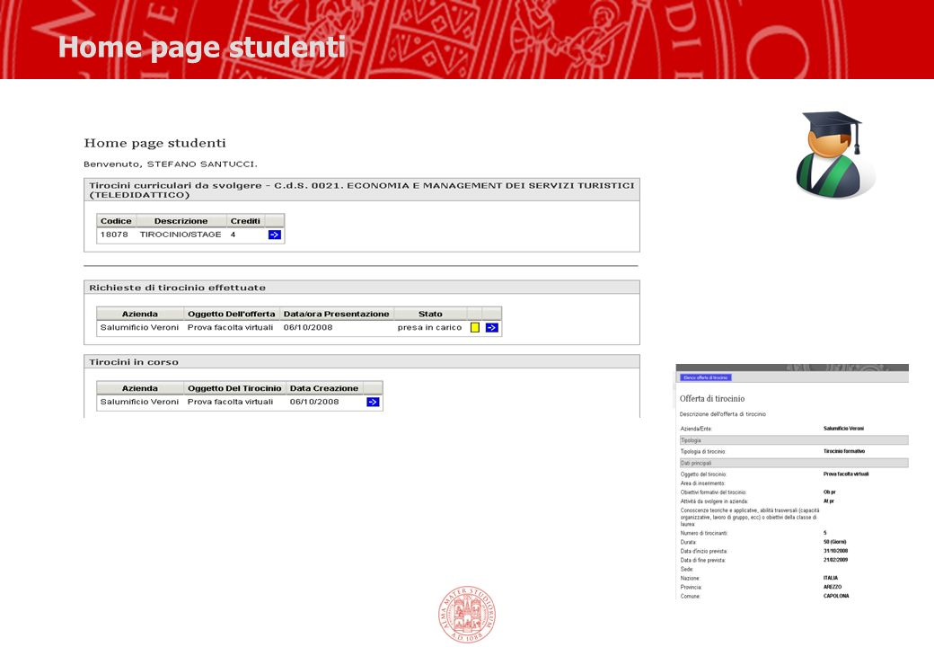 Home page studenti