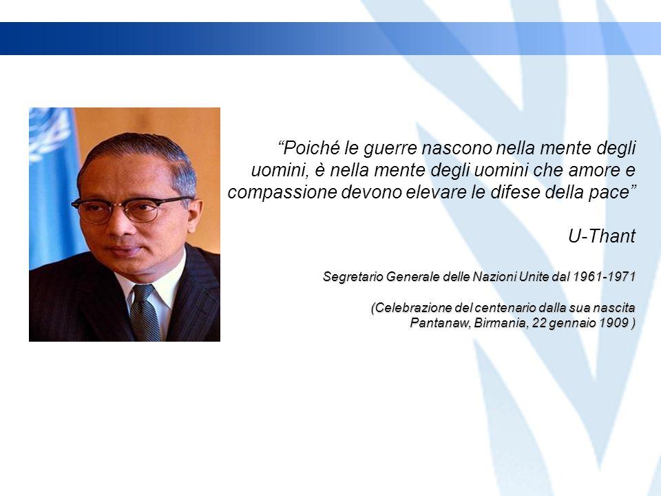 Creato dallUfficio delle Nazioni Unite per le Partnership (Febbraio 2009) Nazioni Unite Le sfide che affrontiamo oggi sono molteplici e la mia risolutezza è grande.
