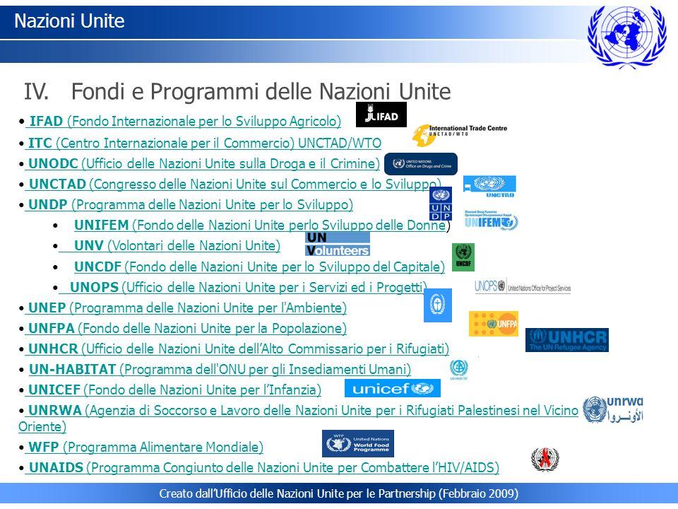 Nazioni Unite IFAD (Fondo Internazionale per lo Sviluppo Agricolo) IFAD (Fondo Internazionale per lo Sviluppo Agricolo) ITC (Centro Internazionale per