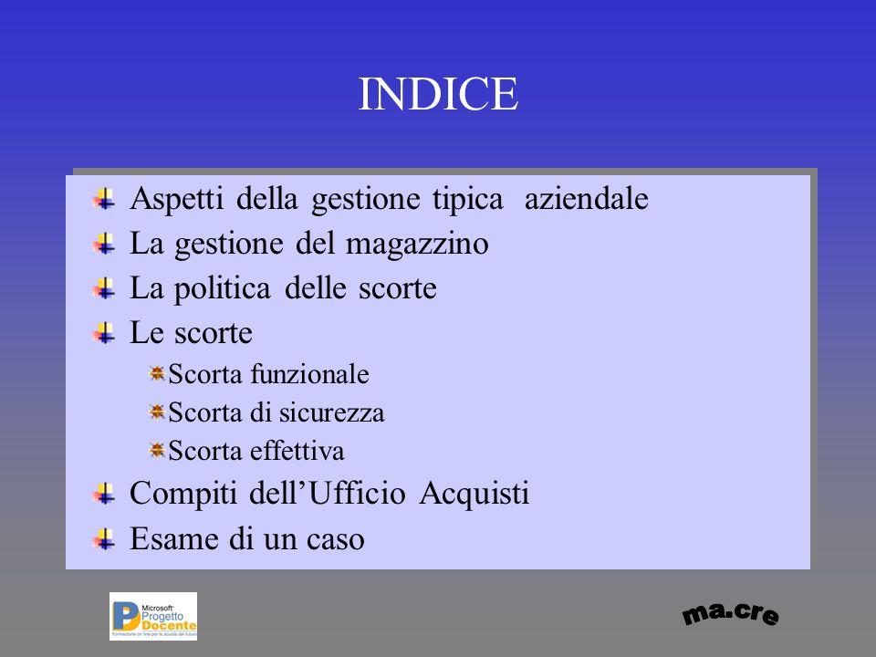 Unità didattica Una gestione tipica aziendale: il magazzino Destinatari: Alunni di classe 4^ del corso I.G.E.A.