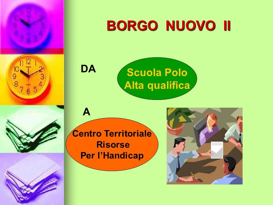 BORGO NUOVO II Scuola Polo Alta qualifica DA Centro Territoriale Risorse Per lHandicap A