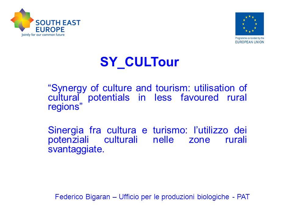 Programma INTERREG – Area di cooperazione Sud Est Europa Federico Bigaran – Ufficio per le produzioni biologiche - PAT
