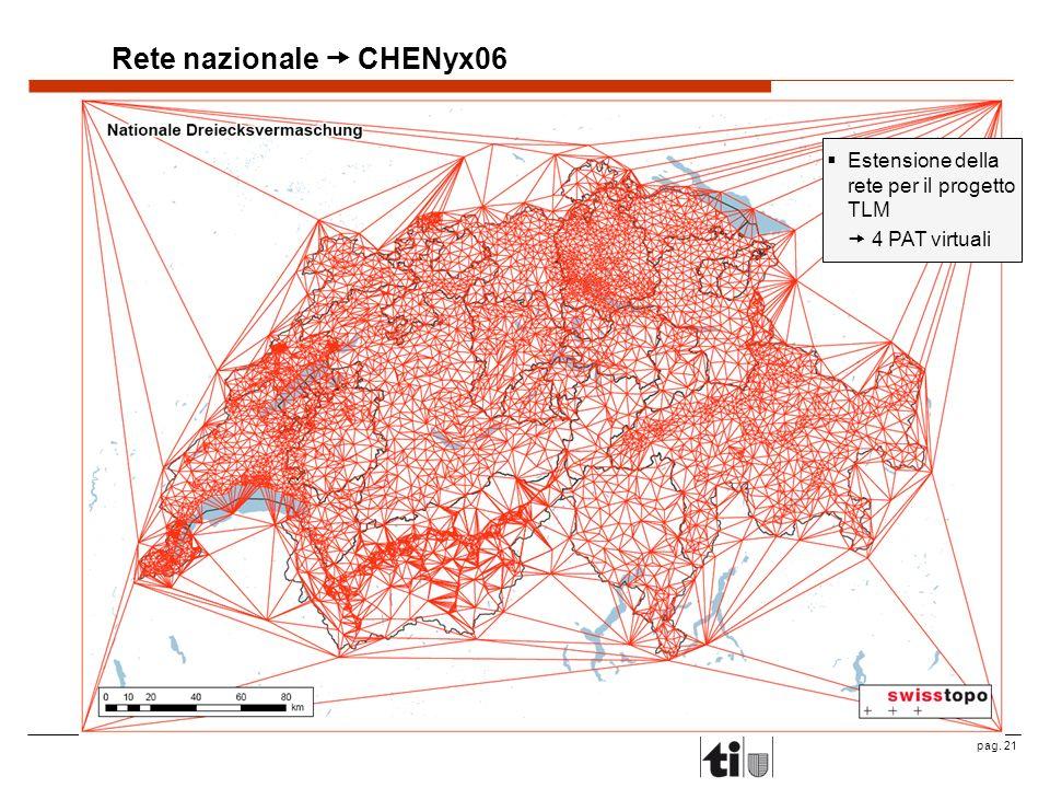 pag. 21 Rete nazionale CHENyx06 Estensione della rete per il progetto TLM 4 PAT virtuali