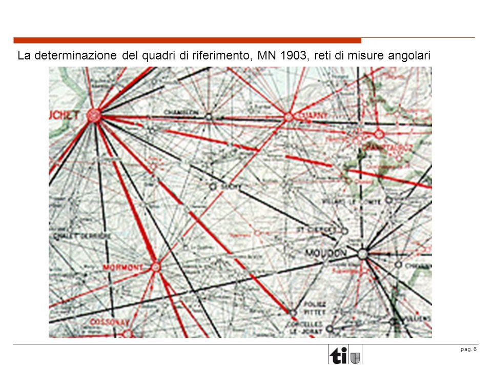 pag. 6 La determinazione del quadri di riferimento, MN 1903, reti di misure angolari