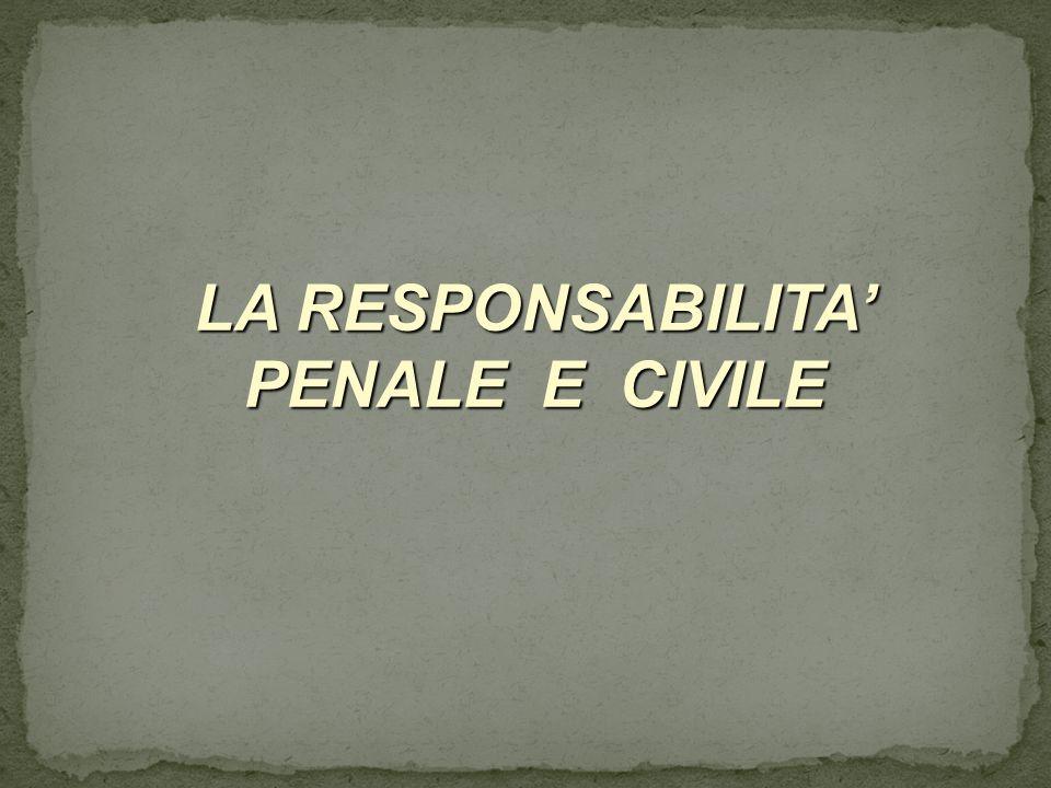 LA RESPONSABILITA PENALE E CIVILE