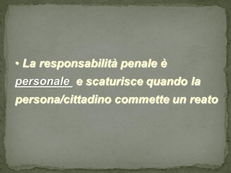 Reato penale Reato penale Ogni fatto illecito al quale lordinamento giuridico collega come conseguenza una pena.