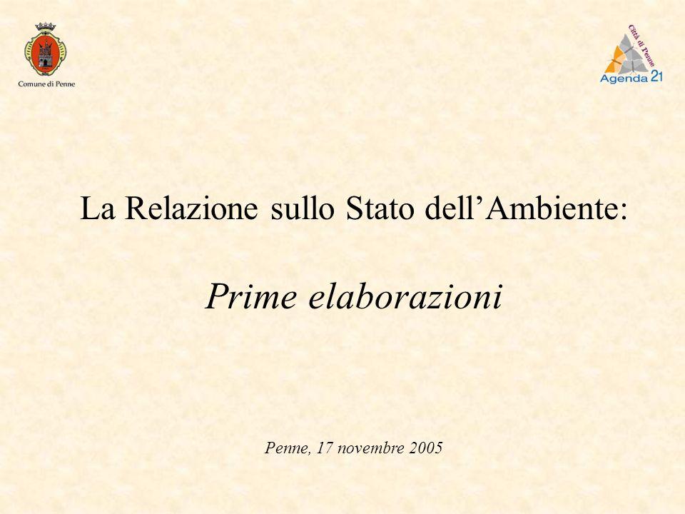 La Relazione sullo Stato dellAmbiente: Prime elaborazioni Penne, 17 novembre 2005