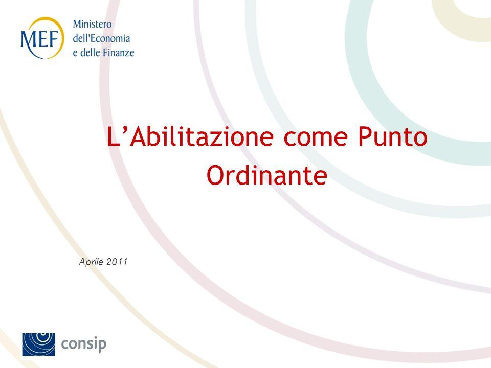 LAbilitazione come Punto Ordinante Aprile 2011