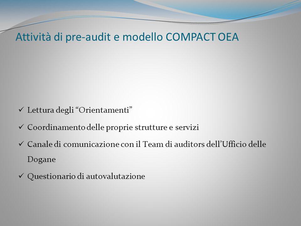 Modello COMPACT OEA (COMpliance PArtnership Customs and Trade) pubblicato nel documento TAXUD 1452/2006