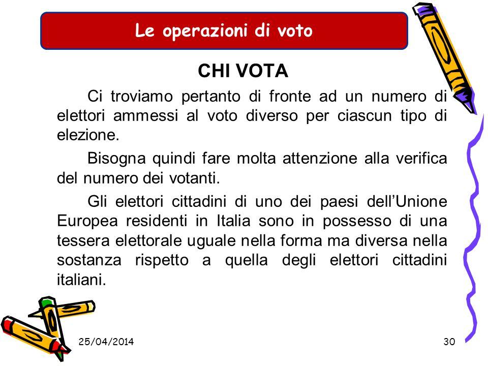 Le operazioni di voto CHI VOTA Elezione del Sindaco e del Consiglio Comunale Votano: Tutti gli elettori iscritti nelle liste che hanno compiuto il 18°