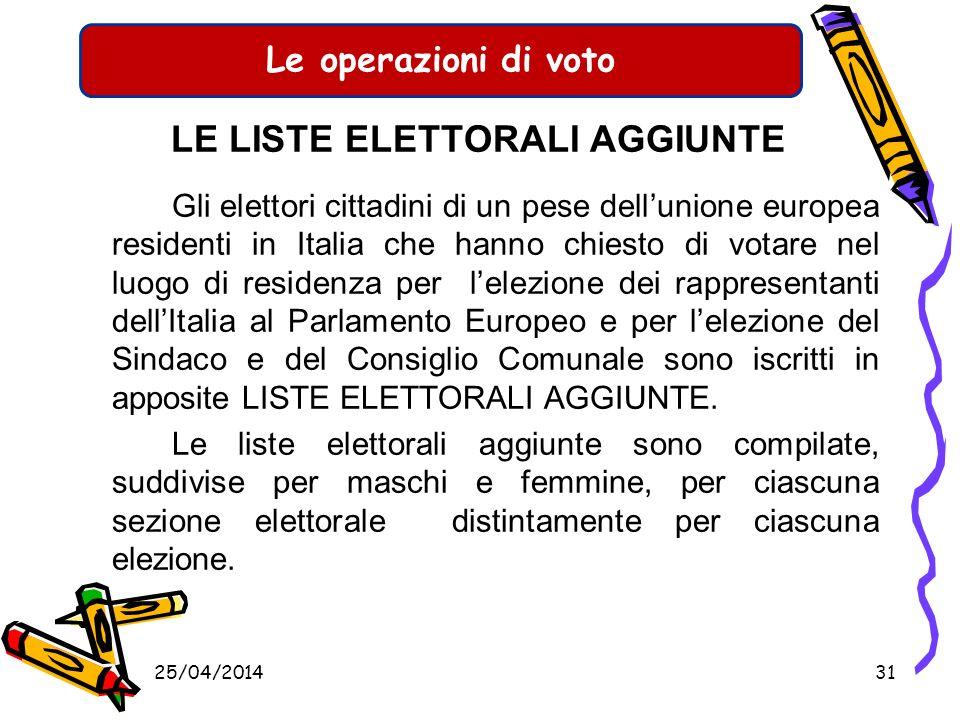 Le operazioni di voto CHI VOTA Ci troviamo pertanto di fronte ad un numero di elettori ammessi al voto diverso per ciascun tipo di elezione. Bisogna q