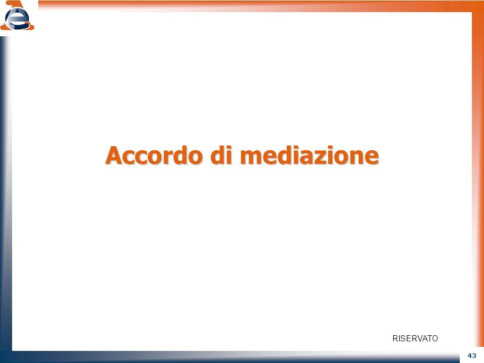 43 Accordo di mediazione RISERVATO
