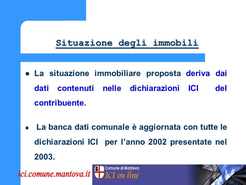 Visualizzazione denunce e versamenti ICI Visualizzazione denunce e versamenti ICI Possono essere visualizzate tutte le dichiarazioni ICI presentate e i versamenti effettuati dal contribuente.