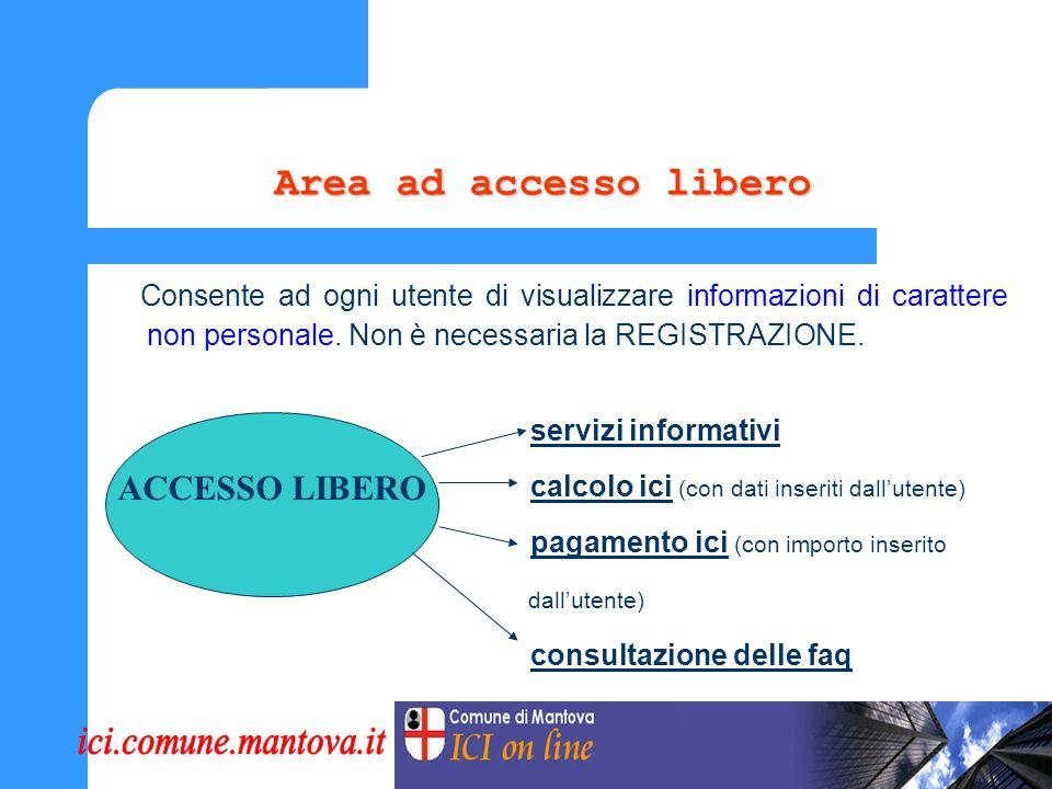La struttura del Portale Il Portale ICI prevede due modalità di accesso, in relazione al servizio erogato.
