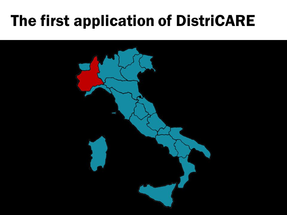 The first application of DistriCARE