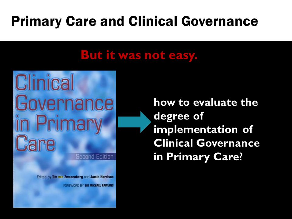 how to evaluate the degree of implementation of Clinical Governance in Primary Care.