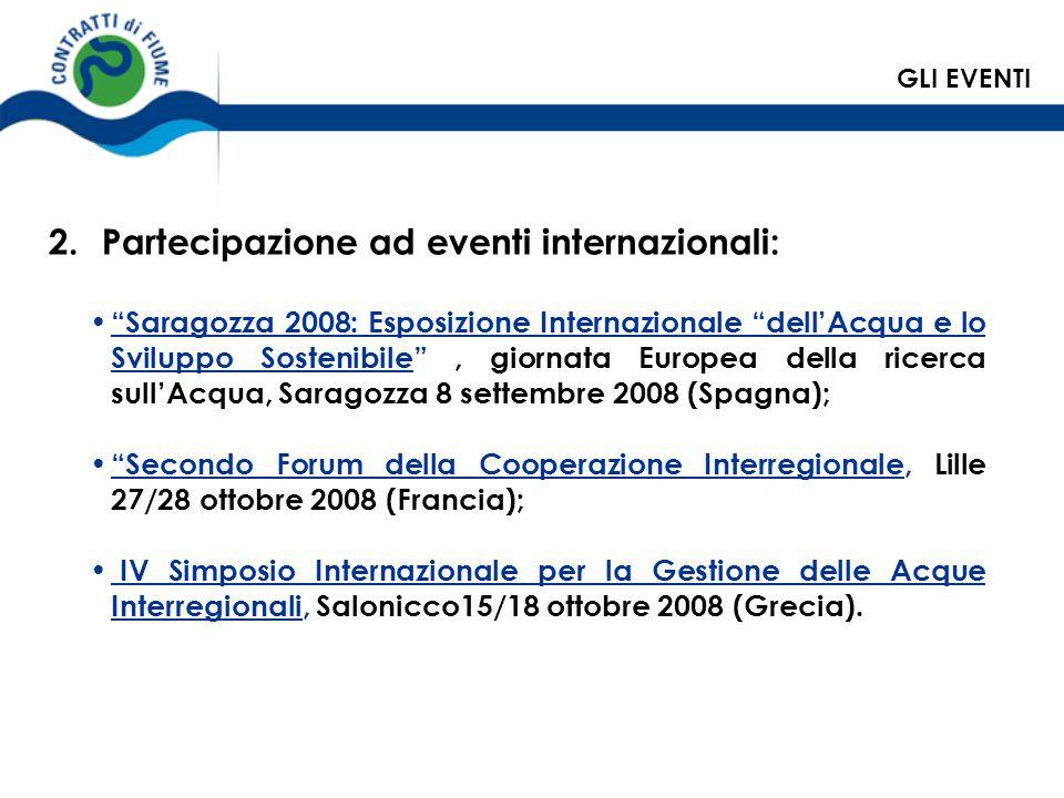 Saragozza 2008: Esposizione Internazionale dellAcqua e lo Sviluppo Sostenibile, giornata Europea della ricerca sullAcqua, Saragozza 8 settembre 2008 (