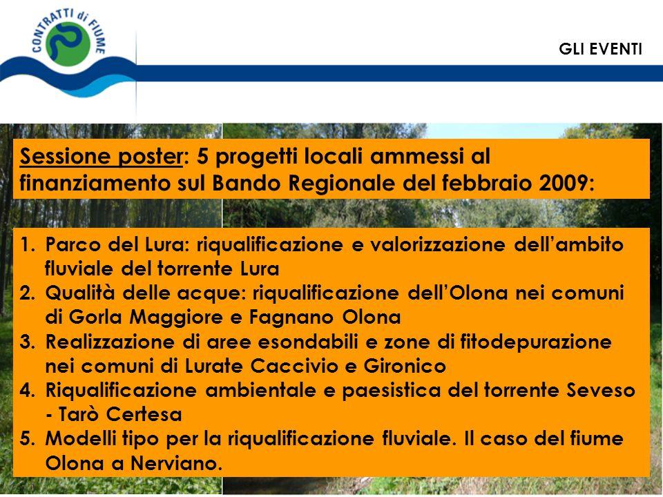 1.Parco del Lura: riqualificazione e valorizzazione dellambito fluviale del torrente Lura 2.Qualità delle acque: riqualificazione dellOlona nei comuni