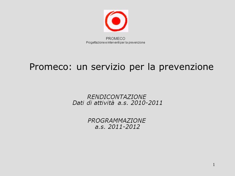 1 RENDICONTAZIONE Dati di attività a.s. 2010-2011 PROGRAMMAZIONE a.s.