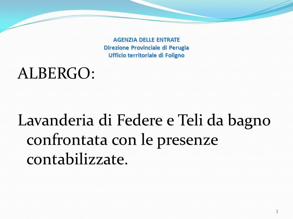 AGENZIA DELLE ENTRATE Direzione Provinciale di Perugia Ufficio territoriale di Foligno PIZZERIA 4