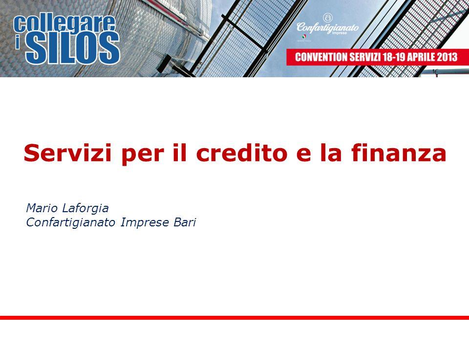 Servizi per il credito e la finanza Mario Laforgia Confartigianato Imprese Bari