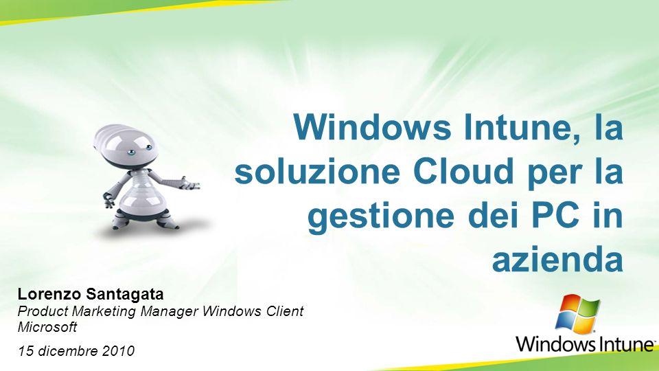 La soluzione Cloud di Microsoft PRODUCTIVITY COLLABORATION BUSINESS APPS STORAGE PLATFORM MANAGEMENT & SECURITY COMMUNICATIONS