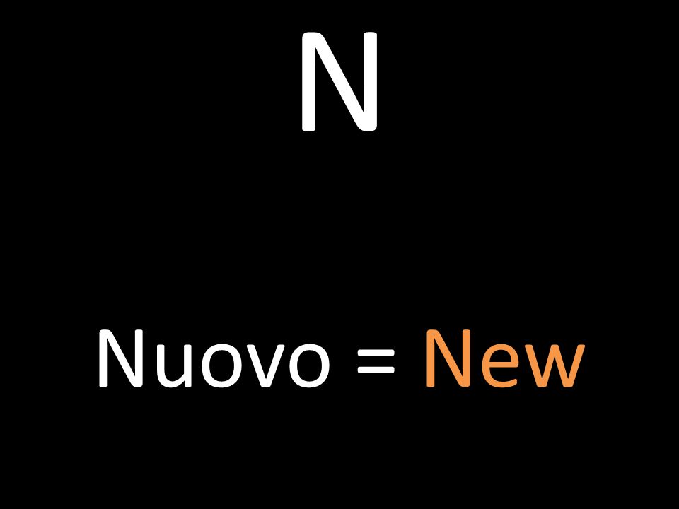 N Nuovo = New