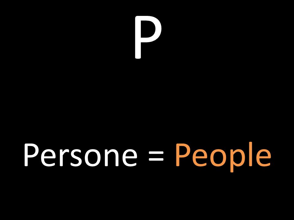 P Persone = People