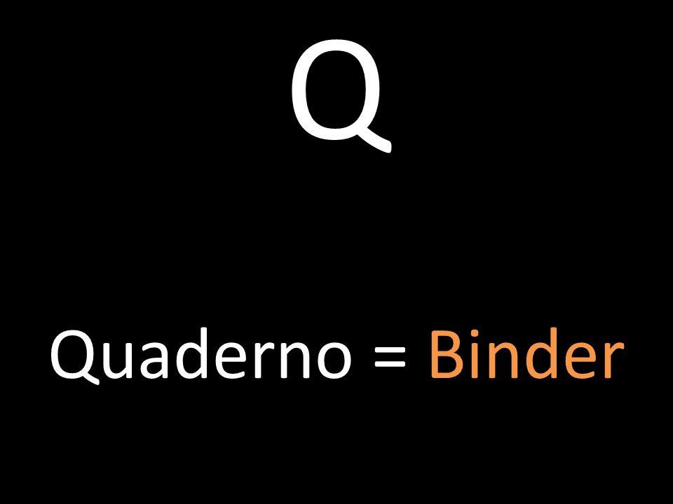 Q Quaderno = Binder