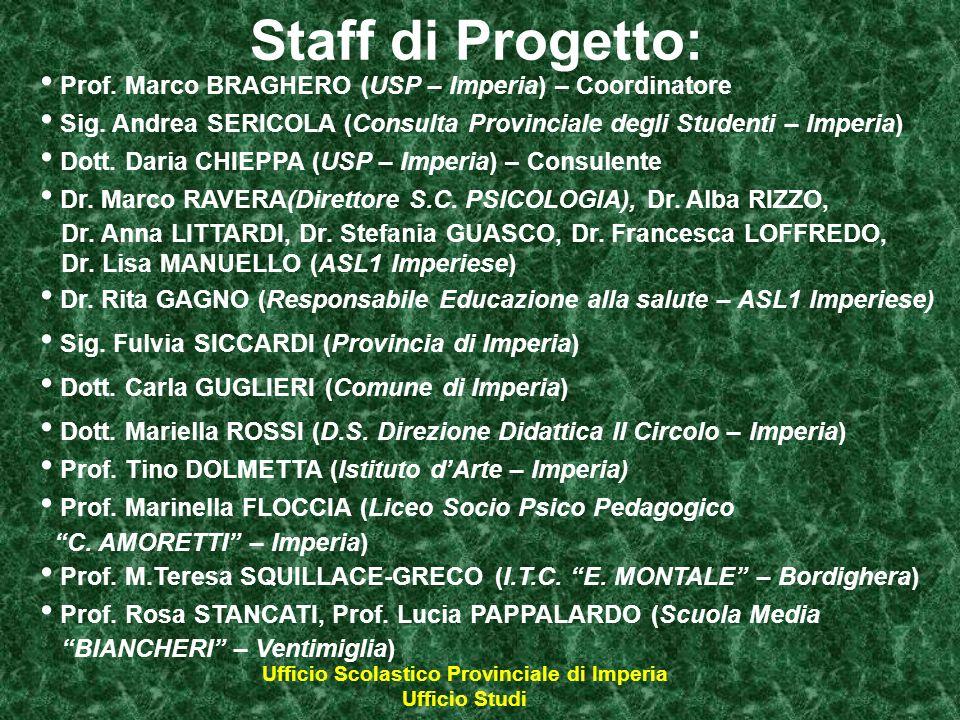 Ufficio Scolastico Provinciale di Imperia Ufficio Studi Prof.