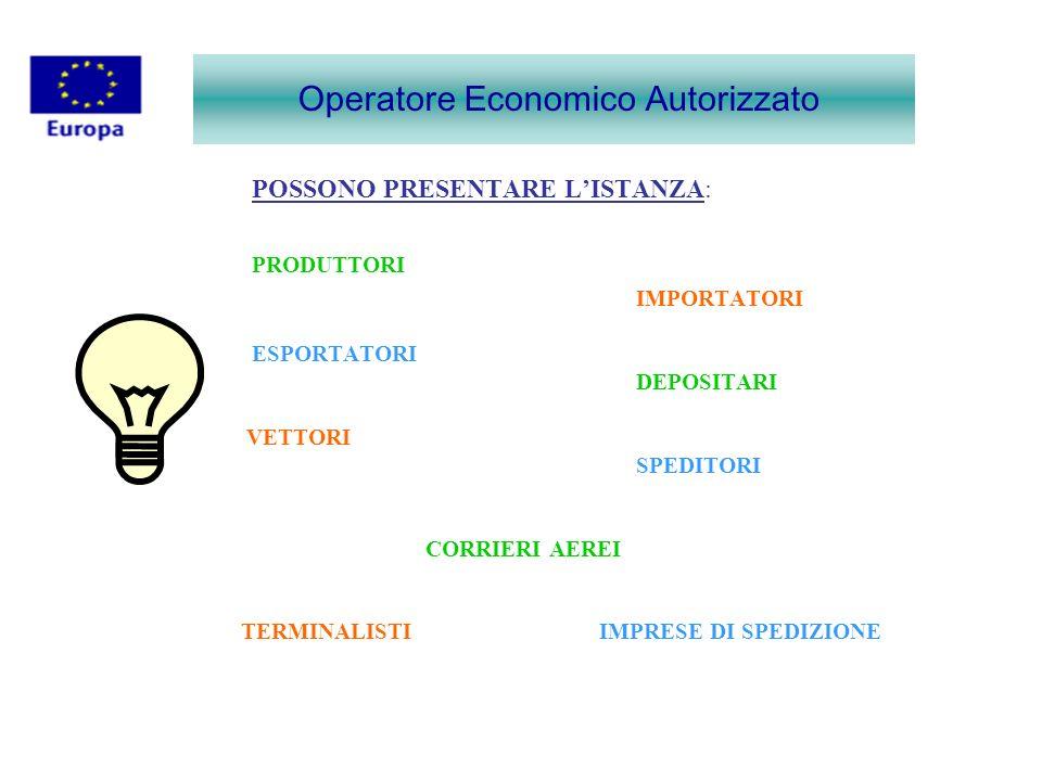 Operatore Economico Autorizzato INFORMAZIONI GENERALI DEL RICHIEDENTE (ALLEGATO N°2) CAMPO N.