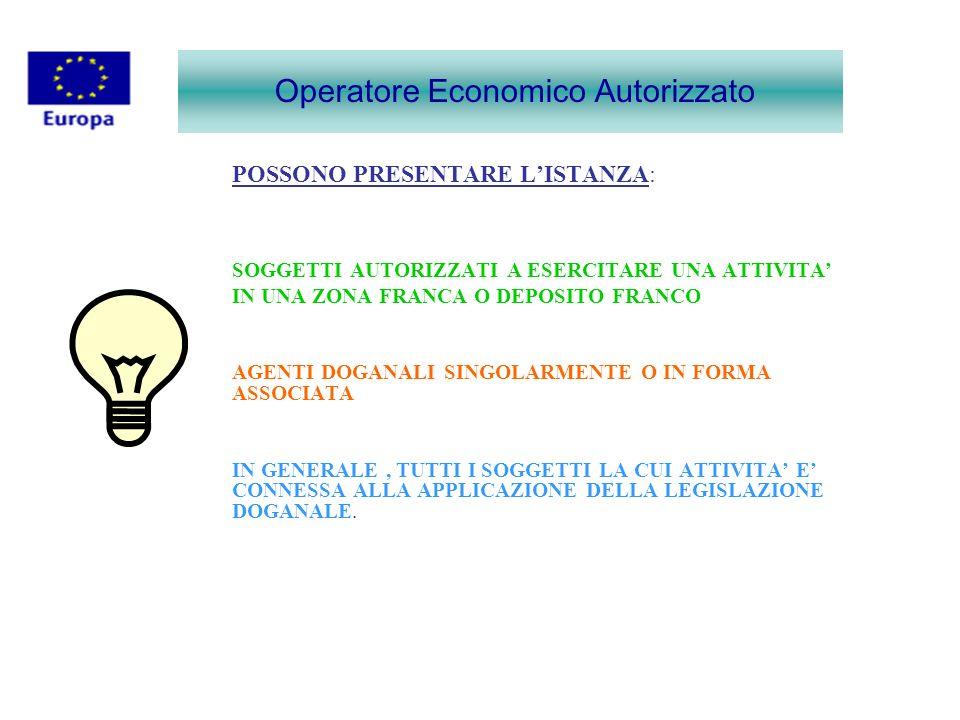 MODALITA DI COMPILAZIONE DELLISTANZA IN ITALIA LISTANZA DEVE ESSERE PRESENTATA IN FORMATO CARTACEO ALLUFFICIO DELLE DOGANE COMPETENTE.