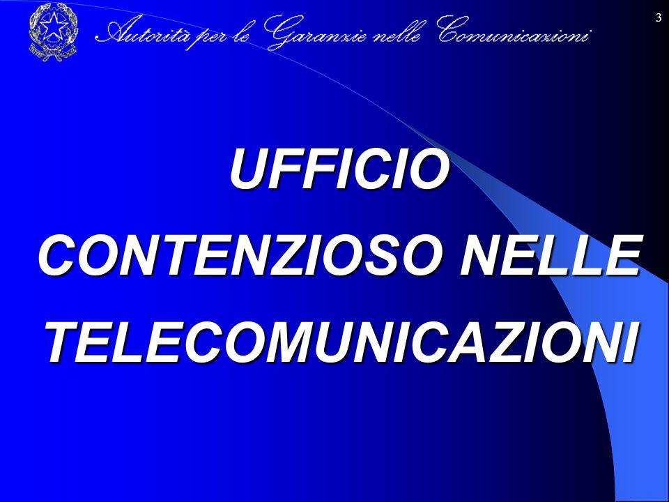 3 UFFICIO CONTENZIOSO NELLE TELECOMUNICAZIONI