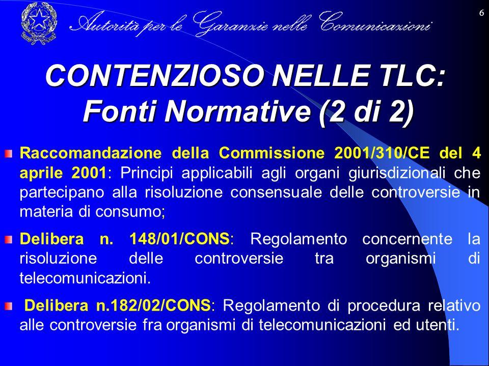 6 Raccomandazione della Commissione 2001/310/CE del 4 aprile 2001: Principi applicabili agli organi giurisdizionali che partecipano alla risoluzione c