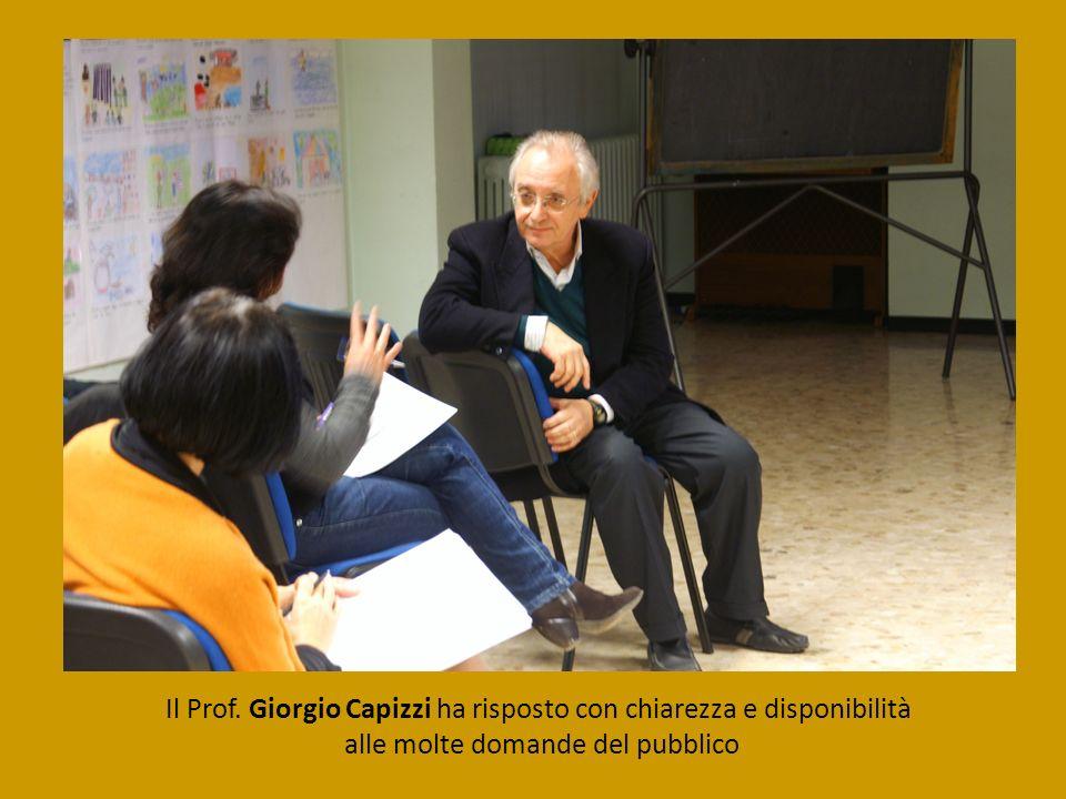 Il Prof. Giorgio Capizzi ha risposto con chiarezza e disponibilità alle molte domande del pubblico