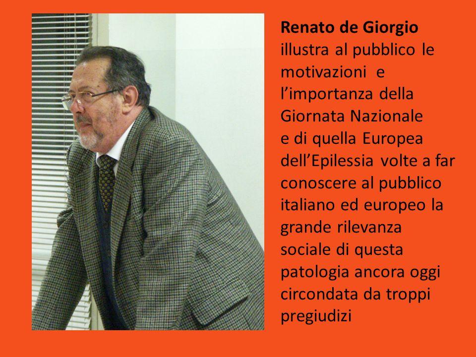 Renato de Giorgio illustra al pubblico le motivazioni e limportanza della Giornata Nazionale e di quella Europea dellEpilessia volte a far conoscere a