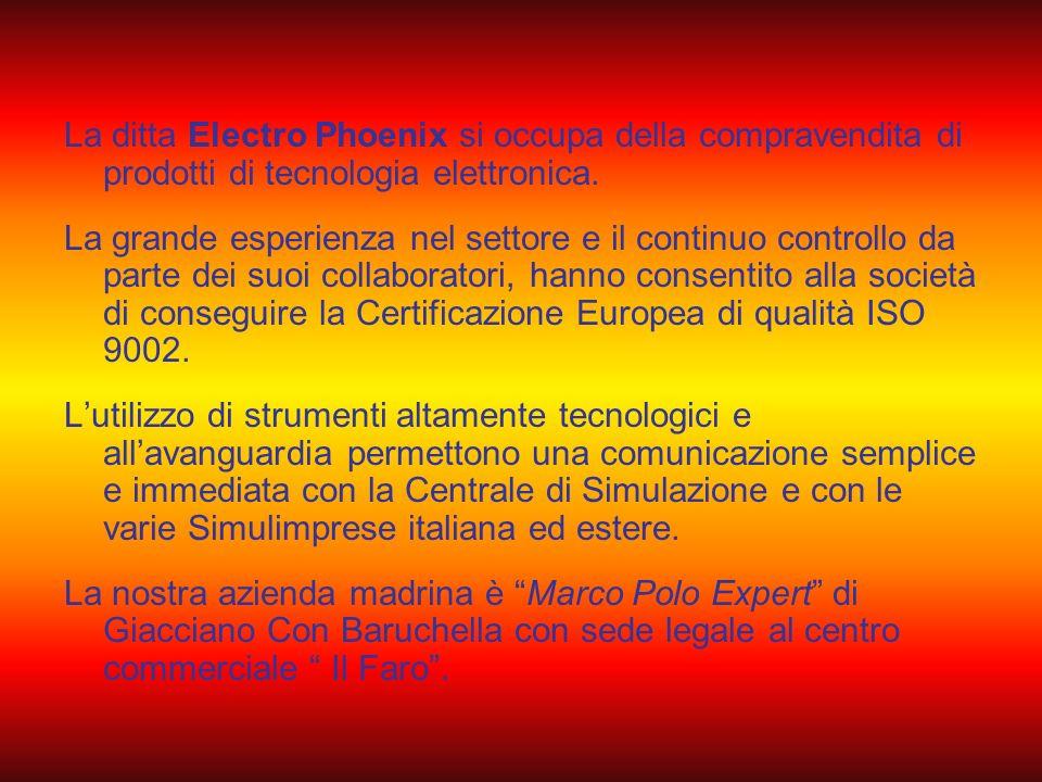 La ditta Electro Phoenix si occupa della compravendita di prodotti di tecnologia elettronica.