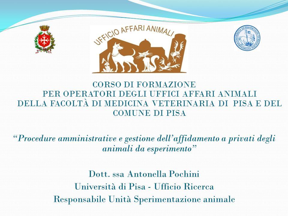 La ricerca con impiego di animali Le università, com è noto, nell ambito dell esercizio delle proprie attività istituzionali, svolgono attività di ricerca con utilizzazione di animali.