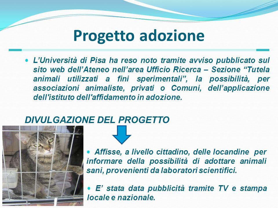 Progetto adozione LUniversità di Pisa ha reso noto tramite avviso pubblicato sul sito web dellAteneo nellarea Ufficio Ricerca – Sezione Tutela animali